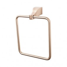 Aqua Bath Towel Ring - Brushed Bronze (AQ5BB) by Top Knobs