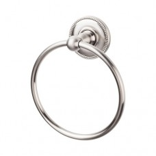 Edwardian Bath Towel Ring w/Beaded Rosette - Brushed Satin Nickel (ED5BSNA) by Top Knobs