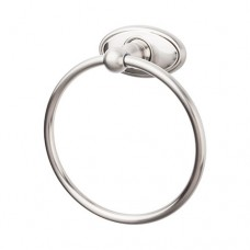 Edwardian Bath Towel Ring w/Oval Rosette -  Bushed Satin Nickel (ED5BSNC) by Top Knobs