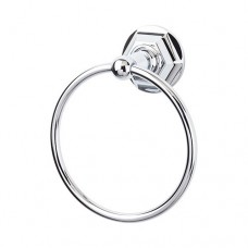 Edwardian Bath Towel Ring w/Hex Rosette - Polished Chrome (ED5PCB) by Top Knobs