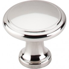 """Ringed Cabinet Knob (1-1/8"""") - Polished Nickel (M1317) by Top Knobs"""