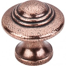 "Ascot Cabinet Knob (1-1/4"") - Old English Copper (M15) by Top Knobs"