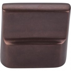 "Flat Sided Cabinet Knob (1-3/8"") - Mahogany Bronze (M1503) by Top Knobs"