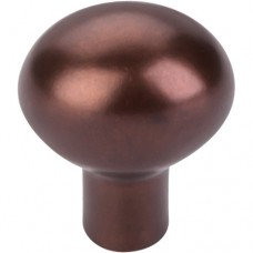 "Egg Cabinet Knob (1-3/16"") - Mahogany Bronze (M1528) by Top Knobs"