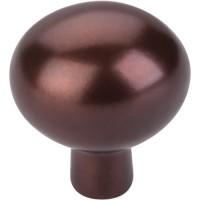 "Egg Cabinet Knob (1-7/16"") - Mahogany Bronze (M1533) by Top Knobs"