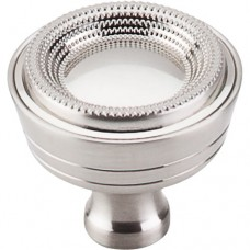 "Beaded Cabinet Knob (1-5/16"") - Brushed Satin Nickel (M1594) by Top Knobs"
