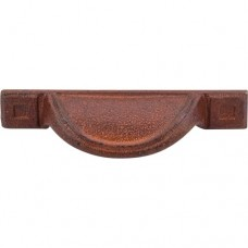 "Cup Bin Pull (2-1/2"" cc) - True Rust (M1812) by Top Knobs"
