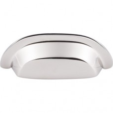 "Cup Bin Pull (3"" cc) - Polished Nickel (M2004) by Top Knobs"