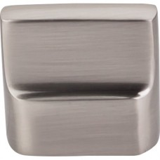 "Flat Sided Cabinet Knob (1-3/8"") - Brushed Satin Nickel (M2050) by Top Knobs"