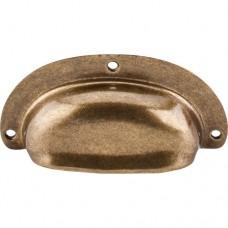 Mayfair Cup Bin Pull (3-holes) - German Bronze (M212) by Top Knobs