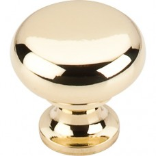 "Flat Faced Cabinet Knob (1-1/4"") - Polished Brass (M269) by Top Knobs"