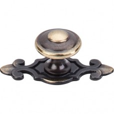 "Canterbury Cabinet Knob (1-1/4"") - Dark Antique Brass (M28) by Top Knobs"