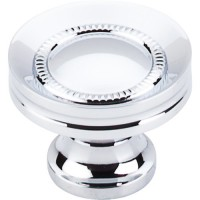 "Button Faced Cabinet Knob (1-1/4"") - Polished Chrome (M291) by Top Knobs"