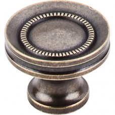 "Button Faced Cabinet Knob (1-1/4"") - German Bronze (M295) by Top Knobs"