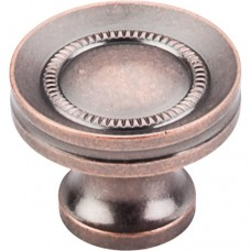 "Button Faced Cabinet Knob (1-1/4"") - Antique Copper (M297) by Top Knobs"