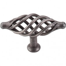 "Large Oval Twist Cabinet Knob (3-1/4"") - Pewter (M625) by Top Knobs"