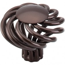 "Large Round Twist Cabinet Knob (1-1/2"") - Oil Rubbed Bronze (M776) by Top Knobs"