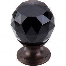 "Black Crystal Cabinet Knob (1-1/8"") - Oil Rubbed Bronze (TK115ORB) by Top Knobs"