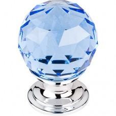"Blue Crystal Cabinet Knob (1-1/8"") - Polished Chrome (TK123PC) by Top Knobs"