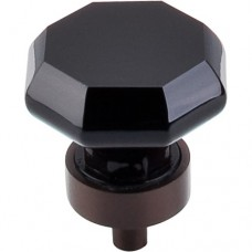 "Black Octagon Cabinet Knob (1-3/8"") - Oil Rubbed Bronze (TK137ORB) by Top Knobs"