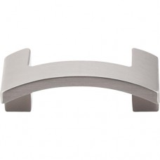 "Euro Arched Cabinet Knob (2-1/8"") - Brushed Satin Nickel (TK248BSN) by Top Knobs"