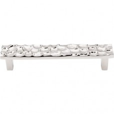 "Cobblestone Drawer Pull (5-1/16"" CTC) - Polished Nickel (TK305PN) by Top Knobs"