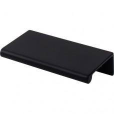 "Europa Tab Drawer Pull (2"" CTC) - Flat Black (TK501BLK) by Top Knobs"