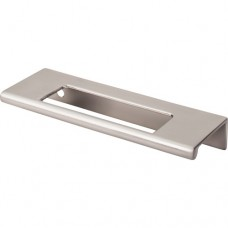 "Europa Cut Out Tab Drawer Pull (3-3/4"" cc) - Brushed Satin Nickel (TK520BSN) by Top Knobs"