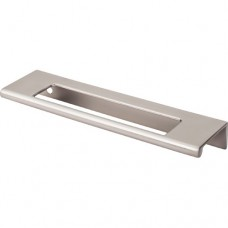 "Europa Cut Out Tab Drawer Pull (5"" cc) - Brushed Satin Nickel (TK521BSN) by Top Knobs"