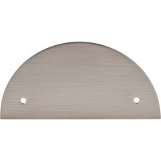 "Half Circle Pull Backplate (3-1/2"" cc) - Brushed Satin Nickel (TK54BSN) by Top Knobs"