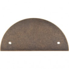 "Half Circle Pull Backplate (3-1/2"" cc) - German Bronze (TK54GBZ) by Top Knobs"