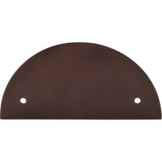 "Half Circle Pull Backplate (3-1/2"" CTC) - Oil Rubbed Bronze (TK54ORB) by Top Knobs"