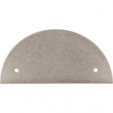 "Half Circle Pull Backplate (3-1/2"" cc) - Pewter Antique (TK54PTA) by Top Knobs"