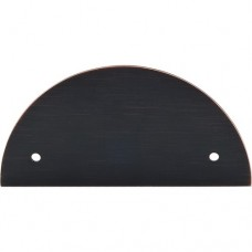 "Half Circle Pull Backplate (3-1/2"" cc) - Tuscan Bronze (TK54TB) by Top Knobs"