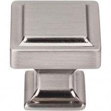 """Ascendra Cabinet Knob (1-1/4"""") - Brushed Satin Nickel (TK702BSN) by Top Knobs"""