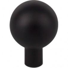 "Brookline Cabinet Knob (1"") - Flat Black (TK761BLK) by Top Knobs"