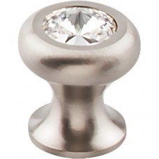 "Hayley Crystal Cabinet Knob (15/16"") - Brushed Satin Nickel (TK845BSN) by Top Knobs"