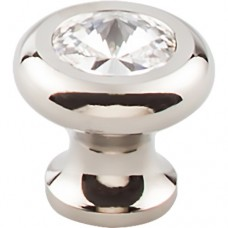 "Hayley Crystal Cabinet Knob (1-3/16"") - Polished Nickel (TK846PN) by Top Knobs"