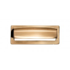 "Hollin Cup Bin Pull (3-3/4"" cc) - Honey Bronze (TK937HB) by Top Knobs"