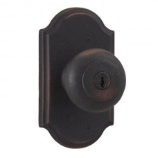 Wexford Keyed Knob Door Set w/ Premiere Rosette (7140) by Weslock