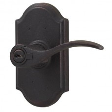 Carlow Keyed Lever Door Set w/ Premiere Rosette (7140) by Weslock