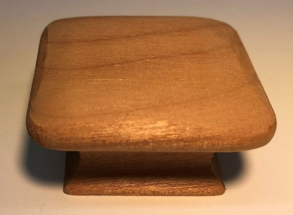 8725 Cherry Square Cabinet Knob From The Unfinished Wood Collection By Cal  Crystal