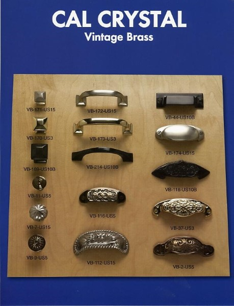 Vintage Brass Collection Cabinet Hardware By Cal Crystal