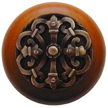 NHW 776C AB Antique Brass Chateau/Cherry Cabinet Knob From The Chateau  Collection